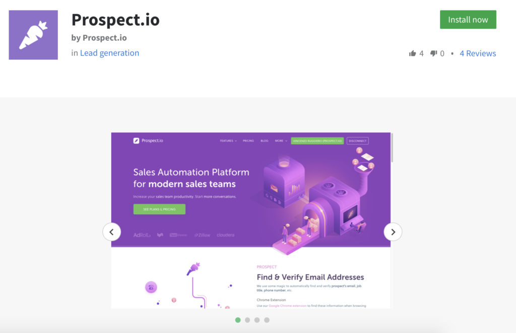 propsect.io pipedrive integration