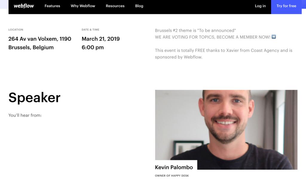 webflow meetups for lead generation