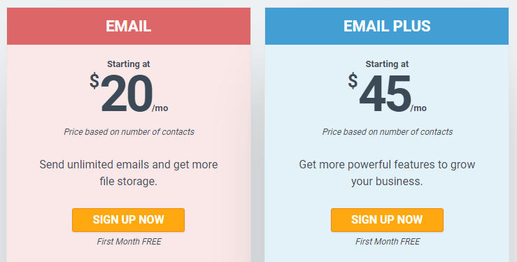 mailchimp alternatives - constant contact pricing