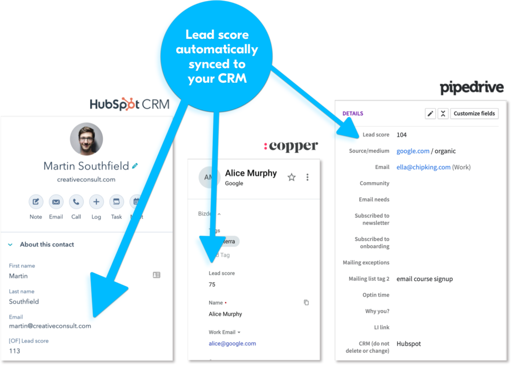 Lead score feature - Outfunnel