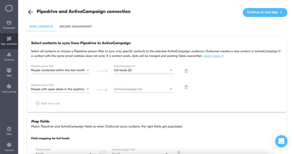 pipedrive and activecampaign connection