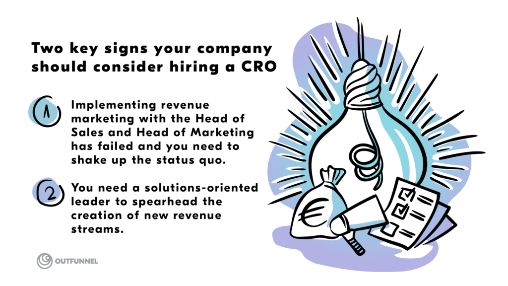 signs your company should hire a Chief Revenue Officer