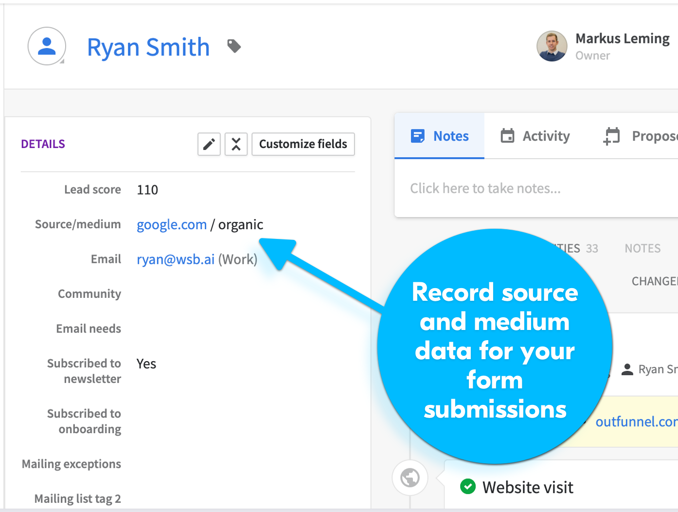 pipedrive unbounce lead source