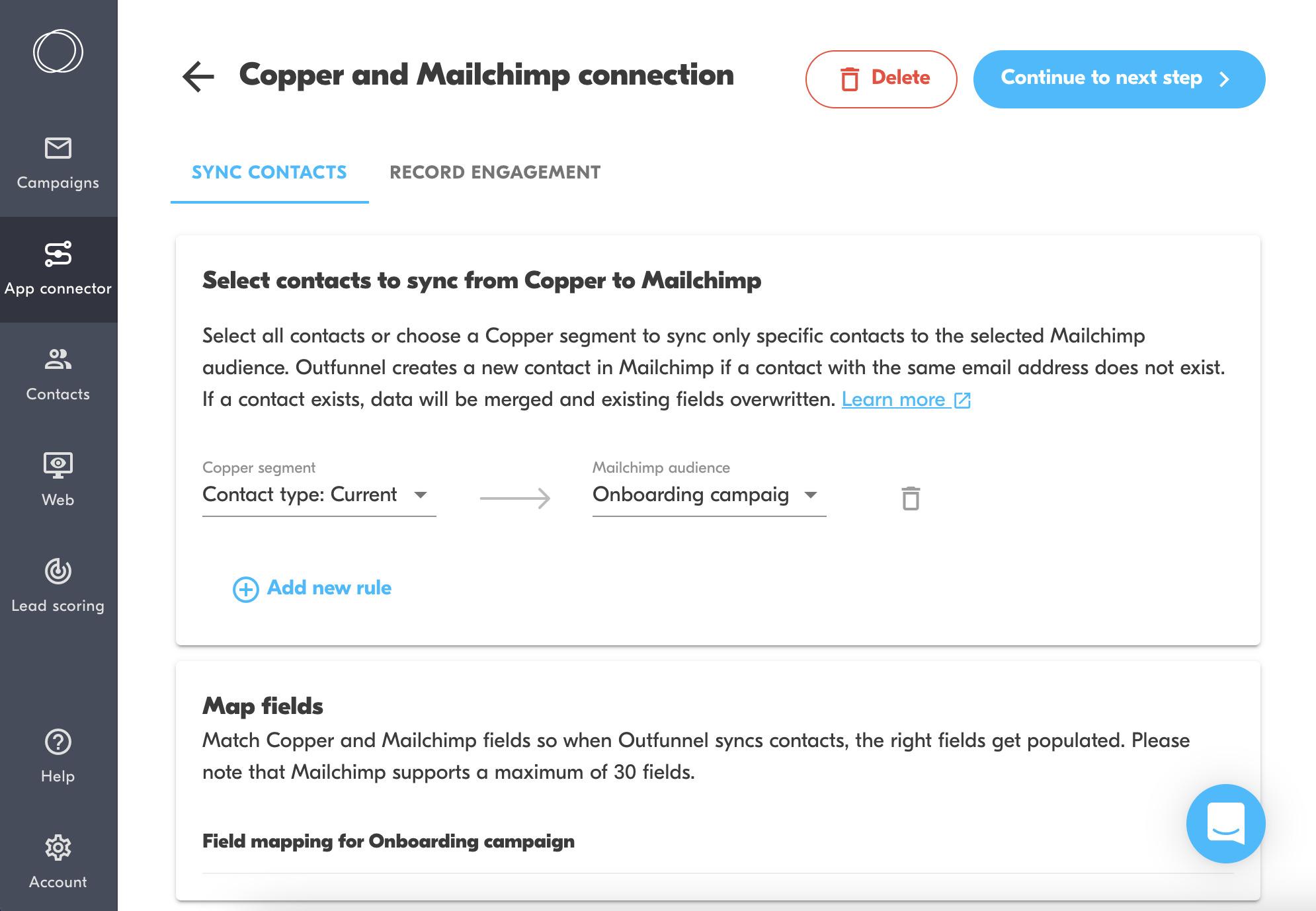 copper mailchimp integration