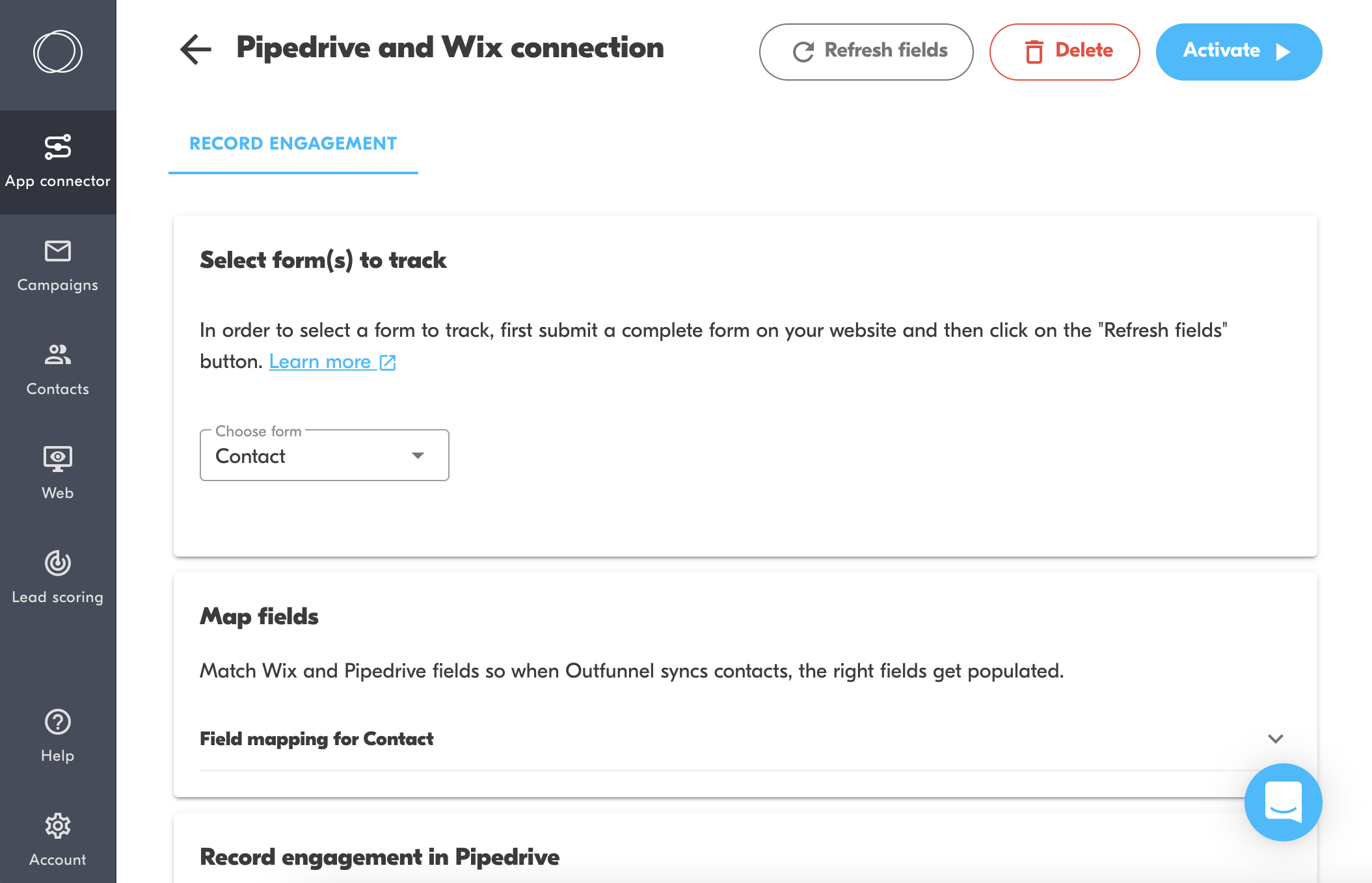 pipedrive-wix forms integration