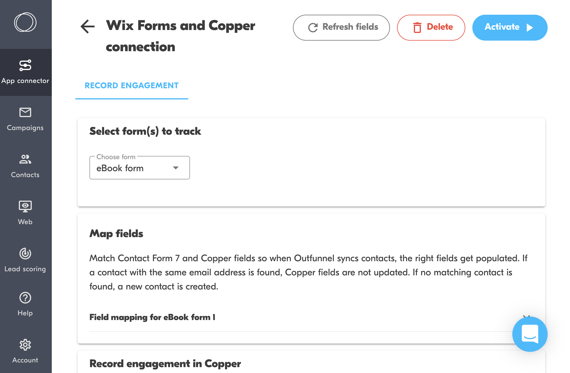 connect wix and copper crm
