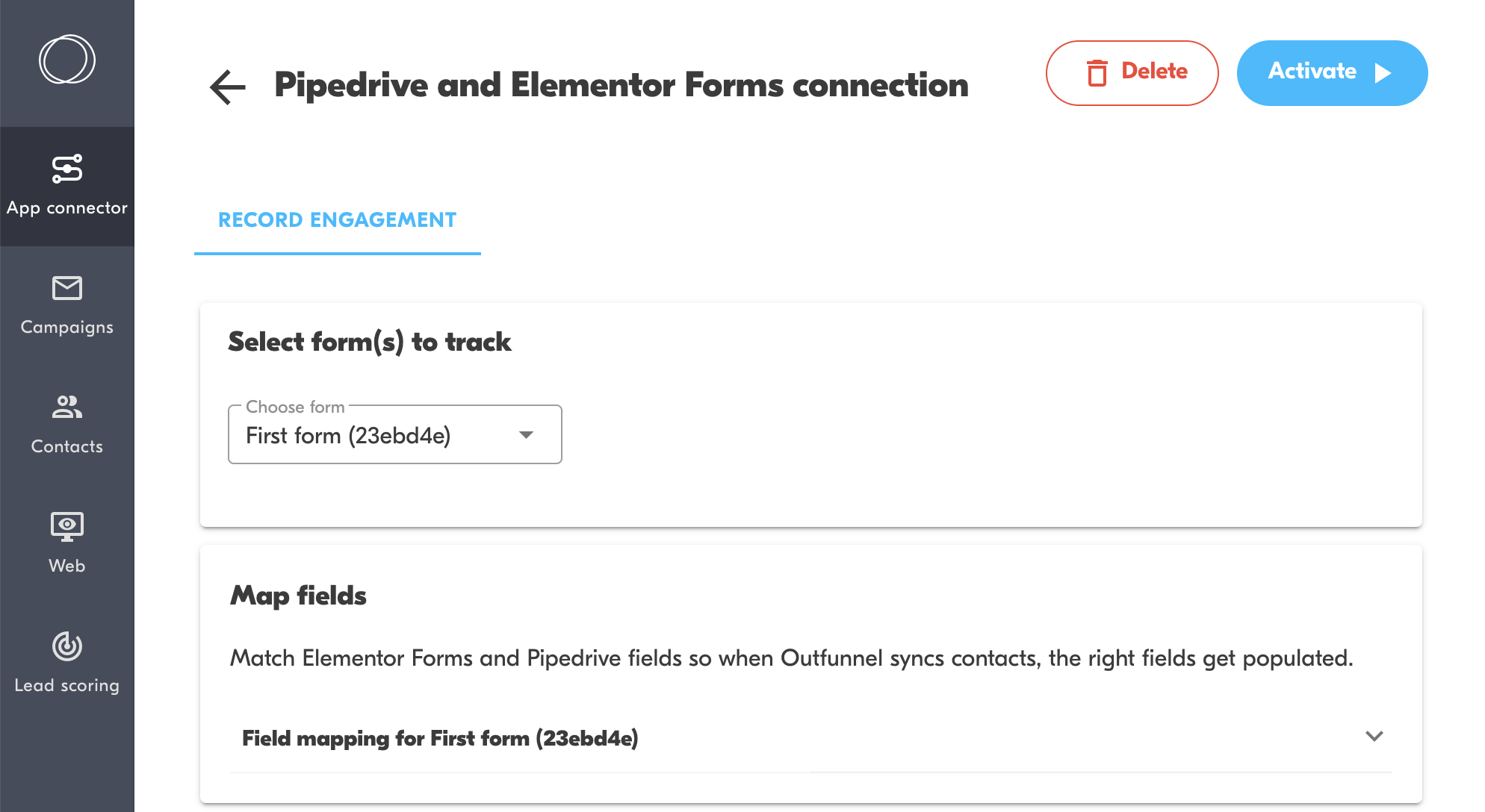 pipedrive elementor forms integration