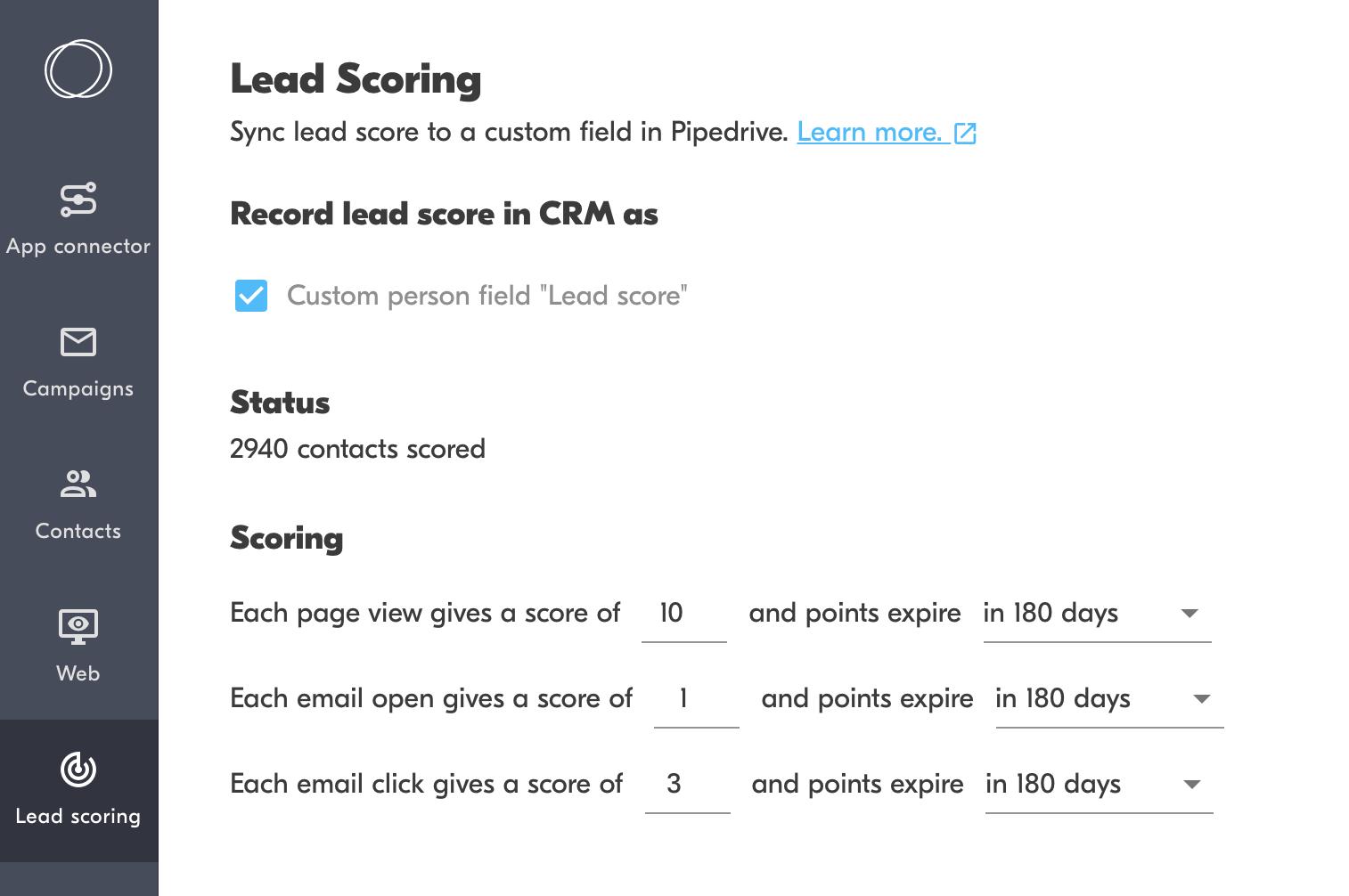 lead scoring software